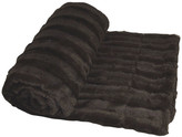 Boon Throw & Blanket Derby Double Sided Faux Fur Throw Blanket, Brown