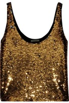 Mes Demoiselles Rivers Sequined Stretch-jersey Tank