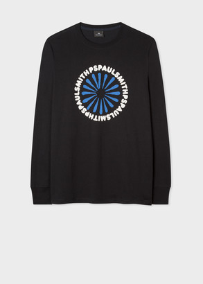Men's 'Burst Star' Print Organic-Cotton Long-Sleeve T-Shirt