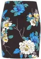 Dorothy Perkins Petite Multi Floral Print Mini Skirt