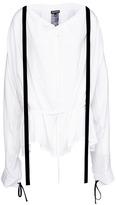 Ann Demeulemeester Velvet sash hopsack blouse