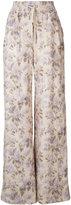Zimmermann wide-leg floral snap pants - women - Silk/Linen/Flax - 2