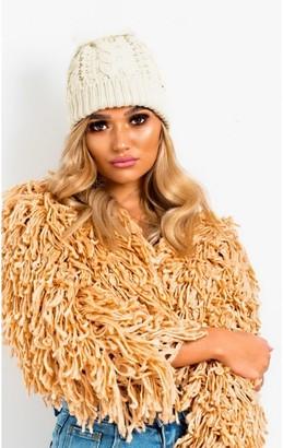 IKRUSH Tammy Faux Fur Lined Pom Pom Hat