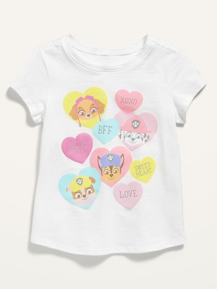 Old Navy Unisex Paw Patrol Valentine-Graphic Short-Sleeve Tee for Toddler