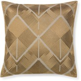 Williams-Sonoma Williams Sonoma All Over Embroidered Diamond Pillow Cover, Bronze