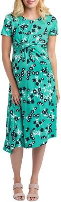 Nom Maternity Kat Asymmetrical Maternity/Nursing Dress