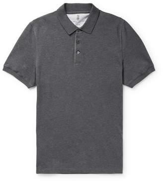 Brunello Cucinelli Slim-Fit Cotton-Pique Polo Shirt