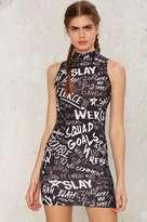 Jaded London Graffiti Mini Dress