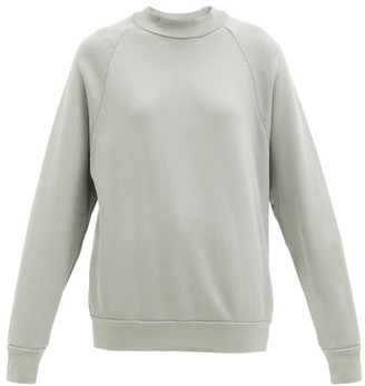 LES TIEN Raglan-sleeve Cotton Sweatshirt - Light Grey