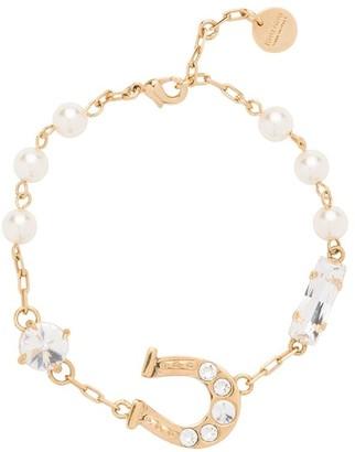 Miu Miu Horseshoe Crystal-Embellished Bracelet