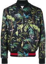 Gucci tropical print bomber jacket