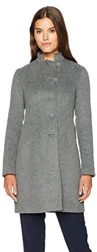 70b1e038d Women's Mock Collar Felt Wool Coat
