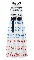 Tibi Pompom Embroidery Dress