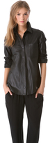 Theory Will L Prudential Leather Button Down