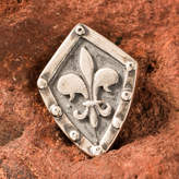 Etsy Fleur de Lis in the Shield Pendant Silver Medieval Necklace Jewelry Jewellery Knight Middle Ages Fre