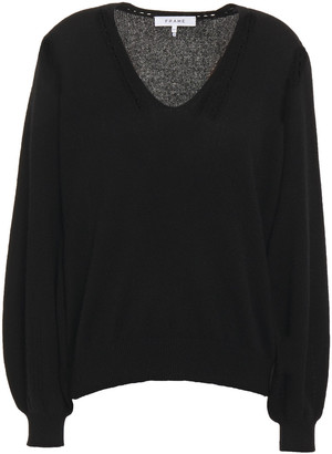 Frame Pointelle-trimmed Cashmere Sweater