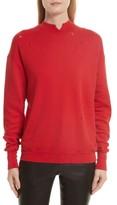 Helmut Lang Women's Slash Neck Destroyed Sweatshirt
