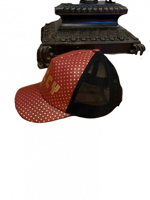 Gucci Red Leather Hats & pull on hats