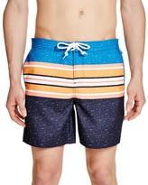 Original Penguin Color Block Stripe Volley Swim Trunks