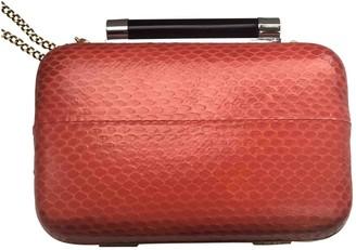 Diane von Furstenberg Orange Exotic leathers Clutch bags