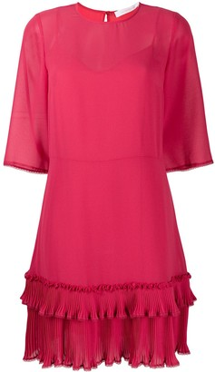 See by Chloe Ruffle-Trim Crew Neck Dress