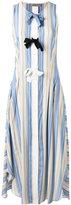 Sportmax striped bow tent dress - women - Silk - 46