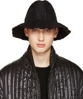 Issey Miyake Black Pleated Bucket Hat