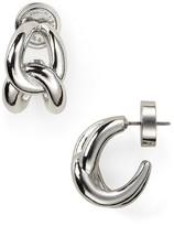 Michael Kors Love Knot Hoop Earrings