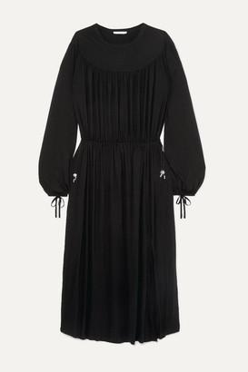 Ninety Percent + Net Sustain Gathered Tencel Maxi Dress - Black