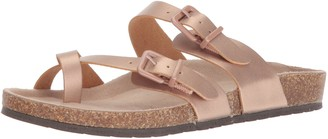 Sugar Women's SGR-XPORTER Flat Sandal Rose Gold Smooth 9.5 M US