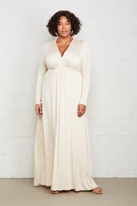 White Label Long Sleeve Full Length Caftan - Plus Size