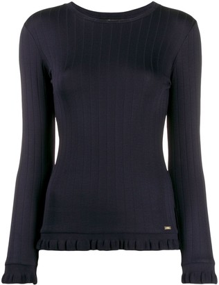 Armani Exchange Ruffle Trim Jumper