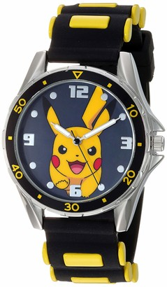 Pokemon Boys' Analog Quartz Watch with Rubber Strap