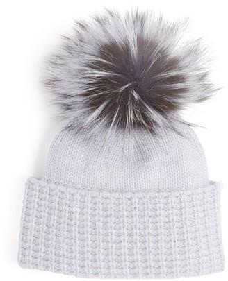 William Sharp Fox Fur Beanie Hat
