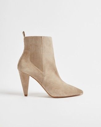 Ted Baker Suede Cone Heeled Ankle Boots