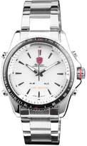 Shark Men's Sport LED Date Day Display Black Stainless Steel Analog Quartz Wrist Watch SH004