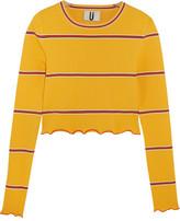 Topshop Margot Striped Stretch-knit Top