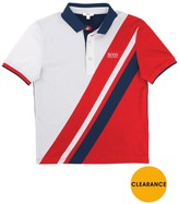 BOSS Boys Diagonal Striped Polo