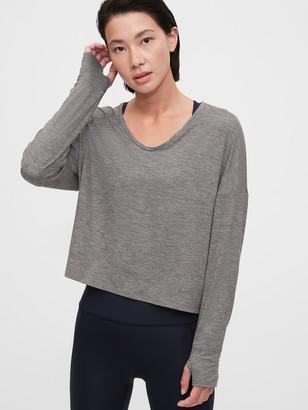 Gap GapFit Brushed Jersey Knot-Front T-Shirt