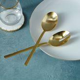 west elm Gold Salad Serving Spoons