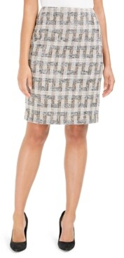 Anne Klein Tweed Pencil Skirt