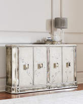 John-Richard Collection Silver Vines Antiqued Mirrored Console