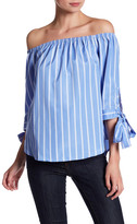 Love, Zoe Striped Blouse with Bows