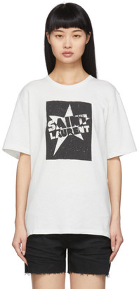 Saint Laurent White Star T-Shirt