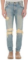 En Noir Men's Distressed Jeans-BLUE