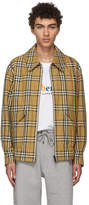 Burberry Reversible Tan Rainbow Check Harrington Jacket