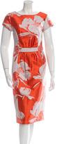 Carolina Herrera Jacquard Sheath Dress