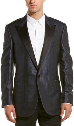 Lanvin Jacquard Evolution Silk Suit Jacket