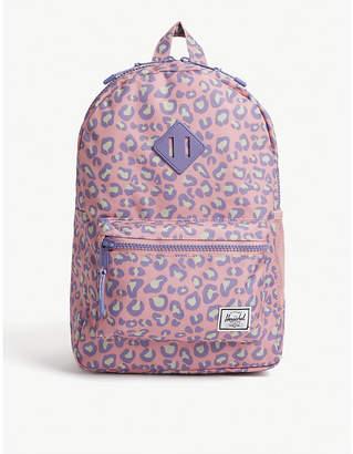 Herschel Heritage leopard-printed backpack