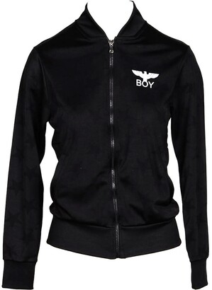 Boy London Black Woven Stars Signature Zip Up Sweatshirt